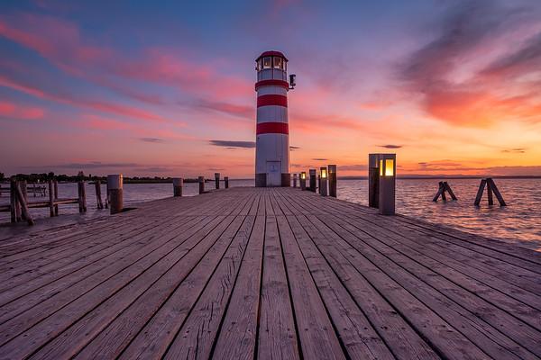Lighthouse during amazing Sunset