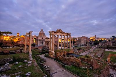 Twilight over the Roman Forum