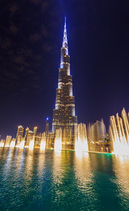 Dubai Fountain and Burj Khalifa