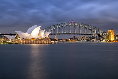 Sydney Opera House and the Harbour Bridge