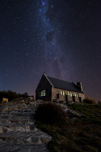 The Milky Way above the Church of the Good Shepherd