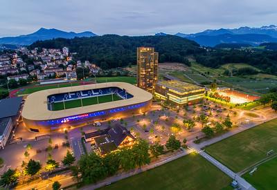 Aerial Shot Swisspor Arena Lucerne