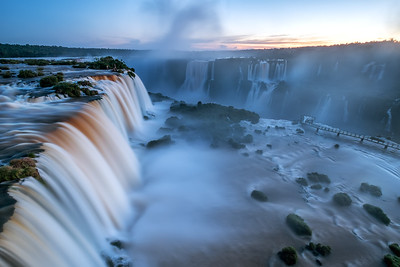 The Iguazú Falls during Twilight