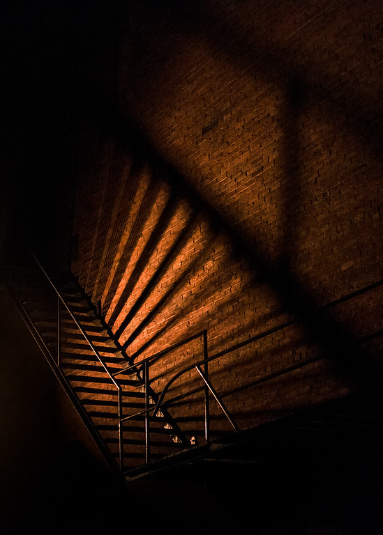 Backlit Stairs