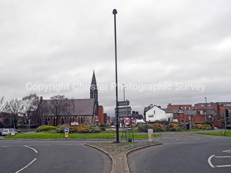 Northgate Church and Fountains Roundabout: Upper Northgate Street
