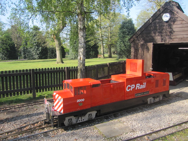 Minature railway and shed: Grosvenor Park