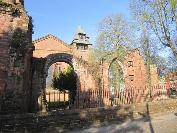 St John's Church, Ruins and Park Wall: St John Street