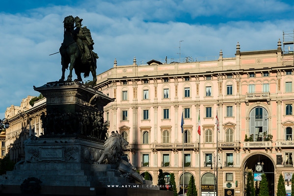 Monument to Victor Emmanuel II, Milan, Italy