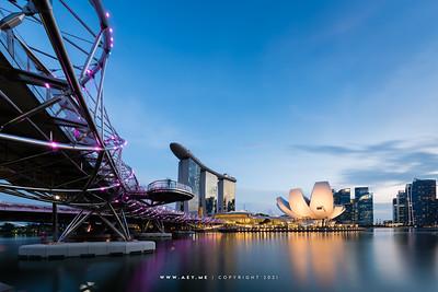 Helix Bridge, Marina Bay Sands and ArtScience Museum