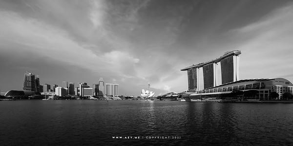 Skyline of Marina Bay, Singapore
