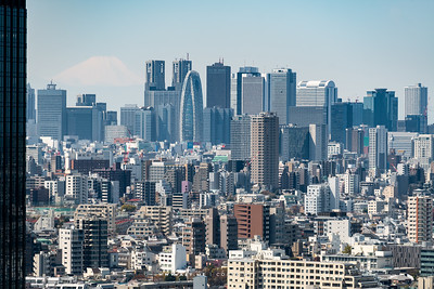 Cityscape of Tokyo view from the Bunkyo Civic Center