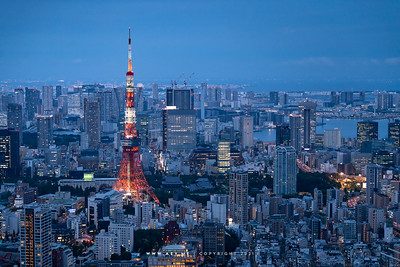 Tokyo Tower and the Cityscape of Tokyo