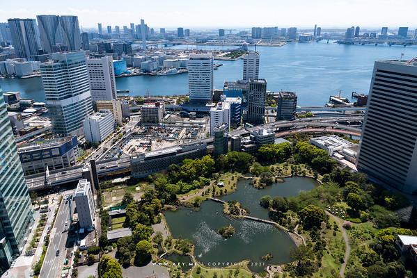 Kyu-Shiba-Rikyu Gardens view from World Trade Center Building