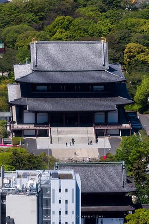 Zojoji view from World Trade Center Building