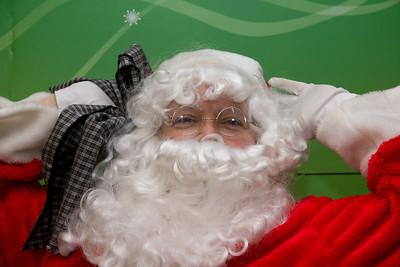 Santa kicks back