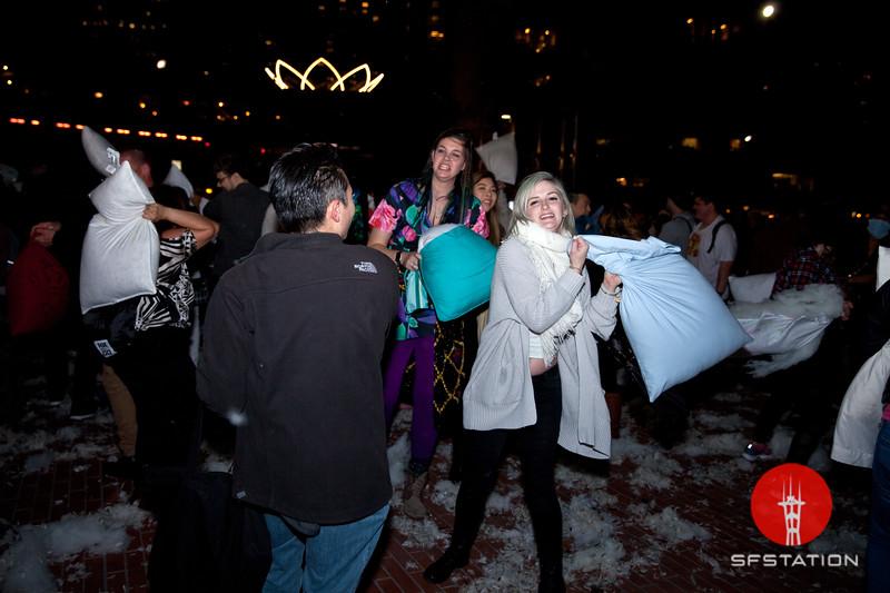 Pillow Fight 2017, Feb 14, 2017 at Justin Herman Plaza