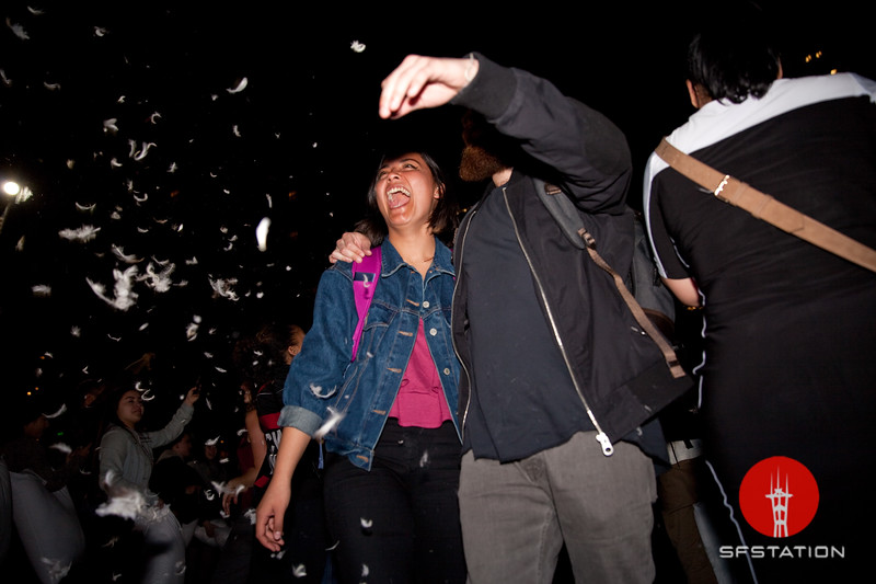 Pillow Fight 2017, Feb 14, 2017 at Justin Herman Plaza
