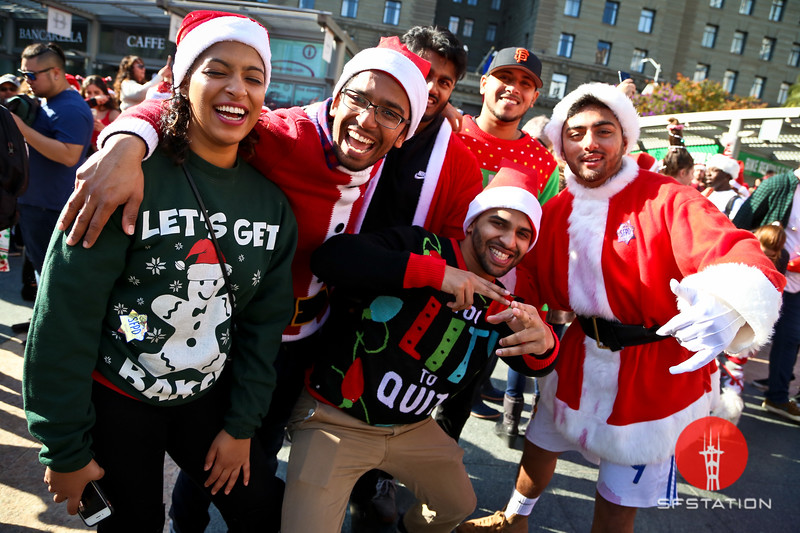 SantaCon 2018, Dec 8, 2018 at Union Square in San Francisco