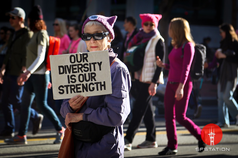 Women's March 2018, Jan 20, 2018 at the Civic Center