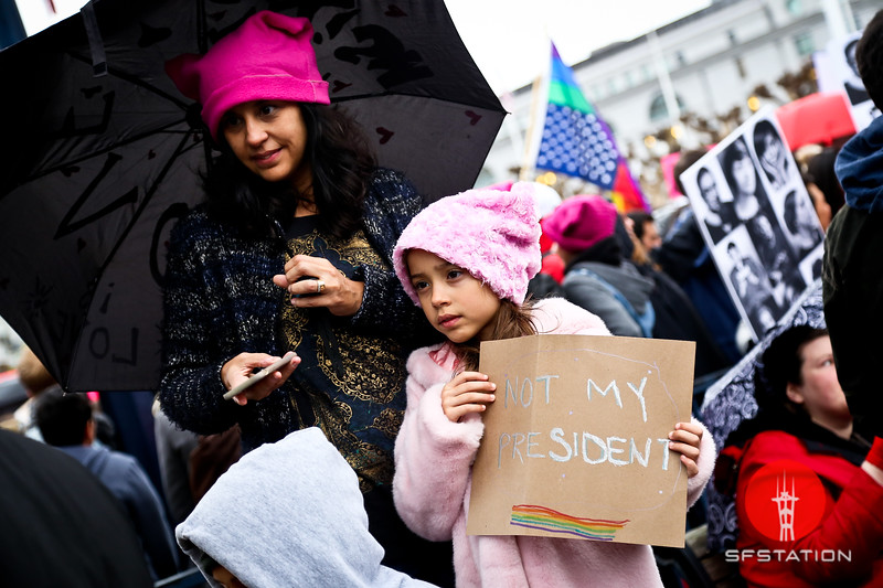 Women's March San Francisco, Jan 21, 2017 at Civic Center in San Francisco