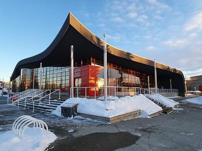 Leduc Public Library - winter