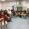 Calvin with World Music and Guitar students
