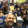 "Shakespeare teacher Juan Parada at ""Career Day,"" Longfellow Elementary, Compton, CA"