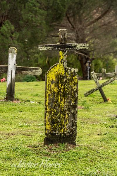 Wooden Cemetery Marker