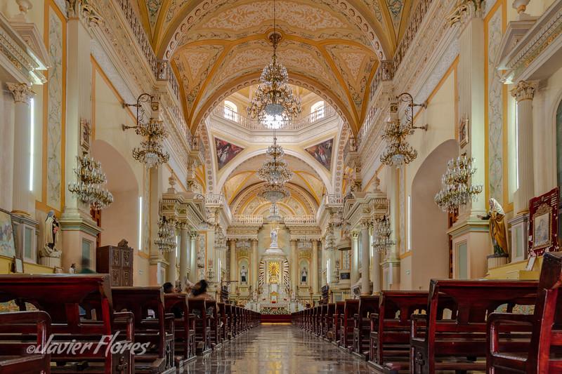 Interior of  Nuestra Señora de Guanajuato Basilica