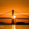 Bay Bridge and Golden Gate Bridge at Sunset