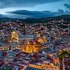 Guanajuato center at sunset
