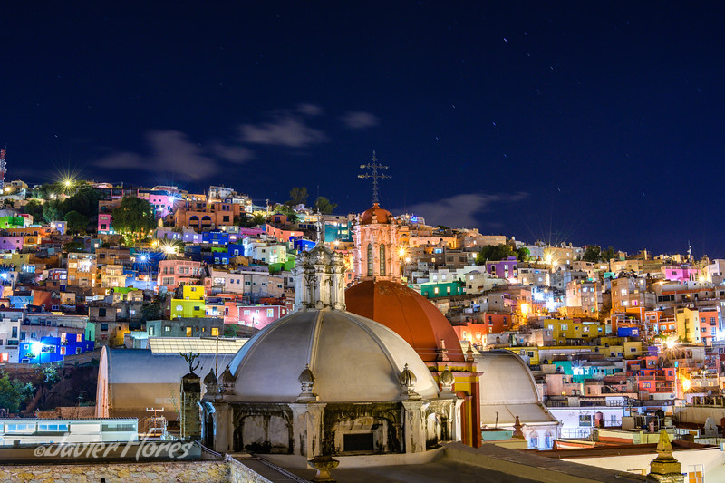 Guanajuato Rooftops at Night