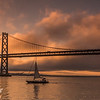 Sailboat  Under Bay Bridge