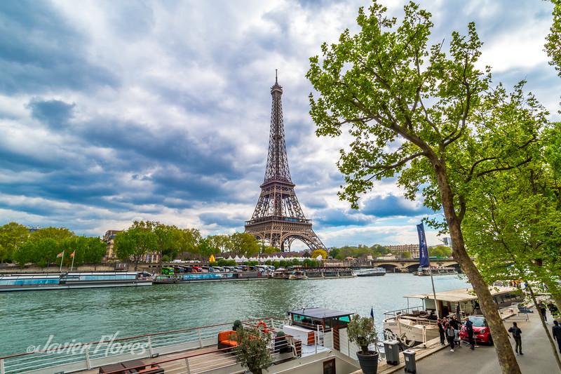 Seine River and Eiffel Tower