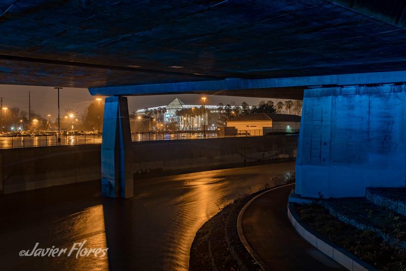 River Under the Bridge in San Jose