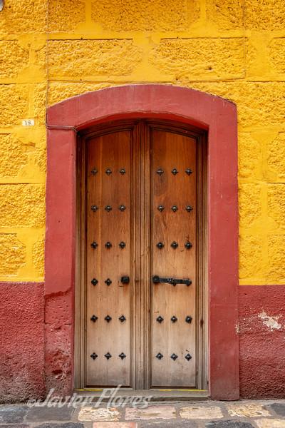 Colorful dor in San Miguel de Allende