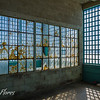 Bared windows at Alcatraz