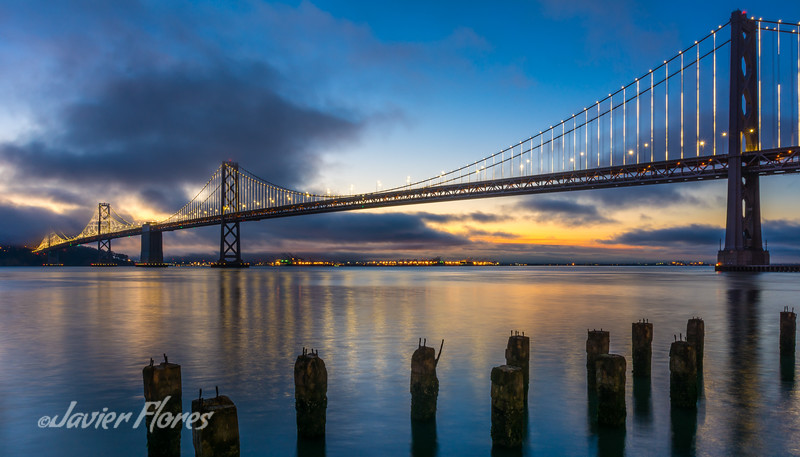 Sunrise at Bay bridge