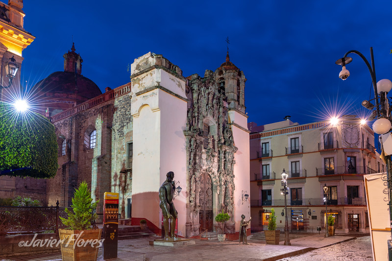San Diego Church and Guanajuato streets at twilight