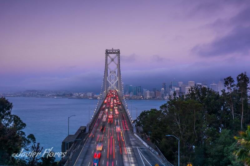 Bay Bride with San Francisco skyline