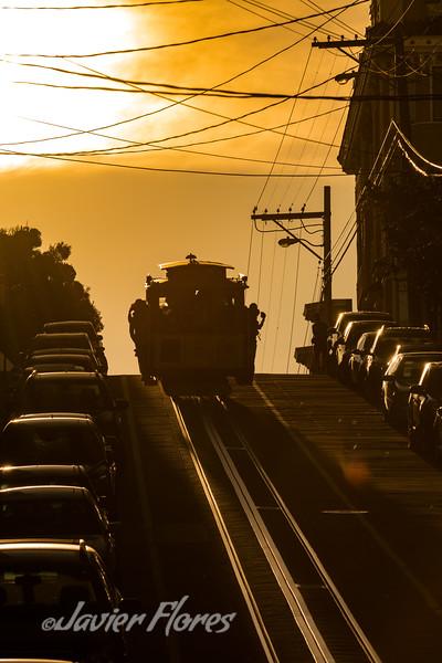 San Francisco Cable Car Silhouette