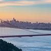 San Francisco and Golden Gate Sunrise
