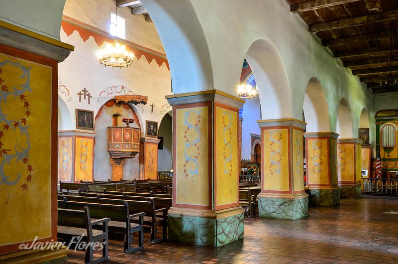 Columns at San Juan Bautista Mission