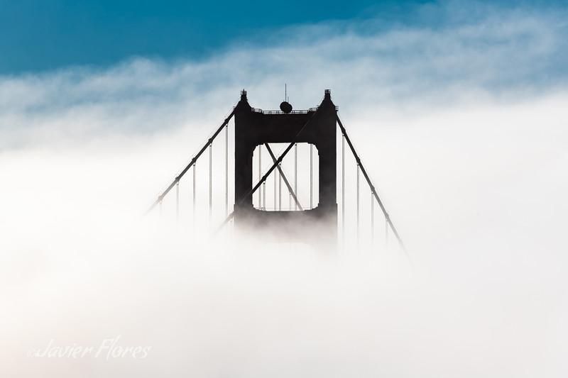 Golden Gate Bridge Tower in Fog