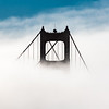 Golden Gate Bridge Tower in Fog