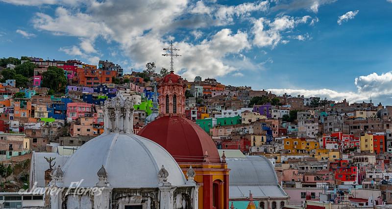 Church Domes Overlooking Guanajuato