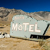 Rustic Motel Road Sign