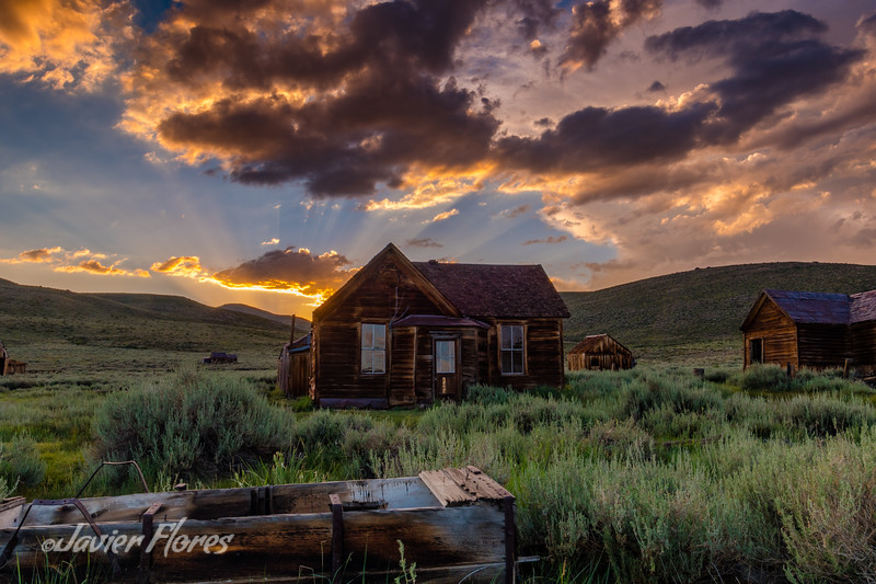 Bodie Cabin At Sunset
