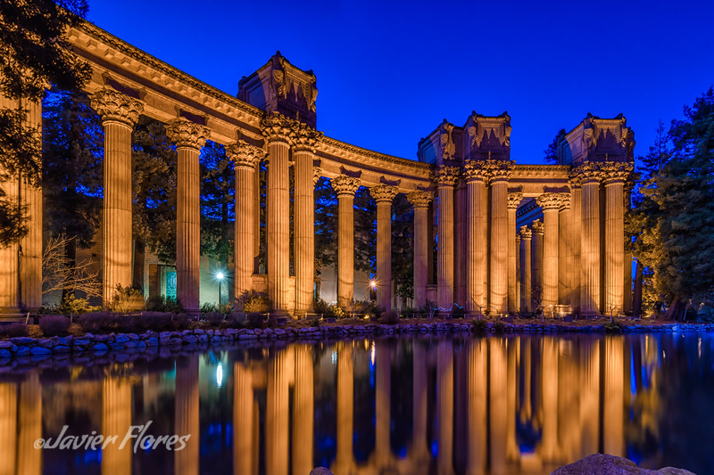 Columns at The Palace of Fine Arts