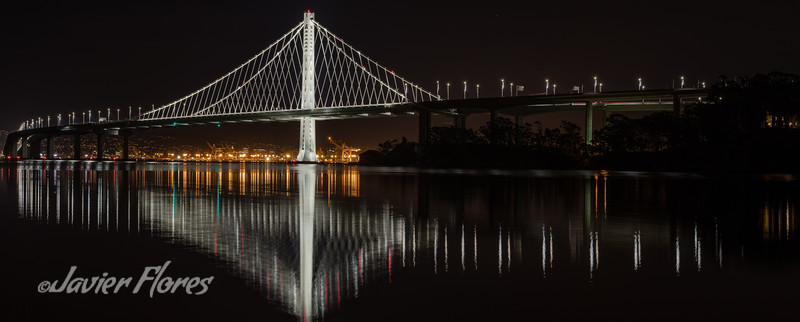 Oakland Bridge Reflections on the Bay